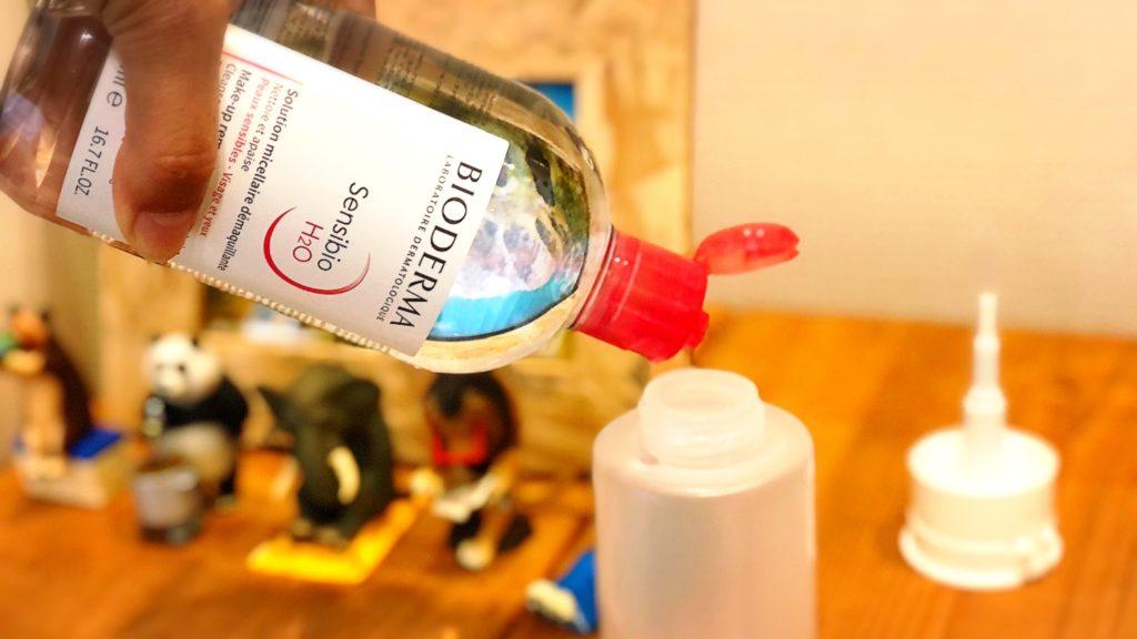 ビオデルマ サンシビオ H2O ダイソー ポンプボトル